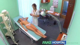 Nurse naughty bombshell licked pussy her fakehospital by blonde gets tits czech