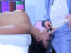Hot sexbot has threesome with horny doctors