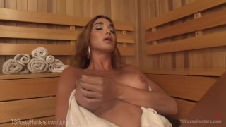 Two Sauna Strangers Anal Creampie Cock small