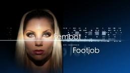 Fembot footjob