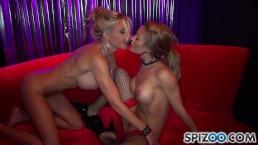Een hete lesbische stripper