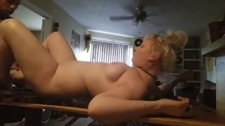 Quick fuck with facial before Daddy goes to work