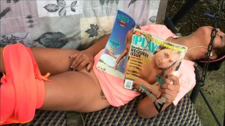 Preview 2 of Outside Fingering My Pussy