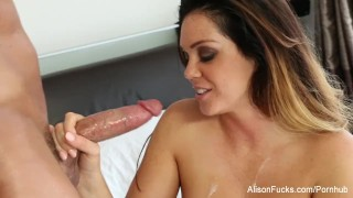 Her the bed tight gets fucked tyler alison pussy on cock babe
