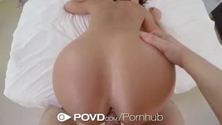 Screen Capture of Video Titled: POVD - Big booty Franceska Jaimes fucks her man