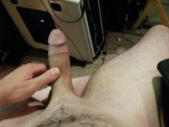 jerking and pissing on myself
