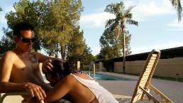 puke blowjob public pool