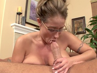 Eva Notty in Blowjob cum guzzling and swallowing scene