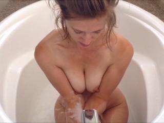 A bit of bathing, a lot of masturbating )