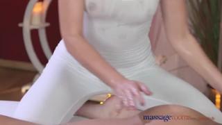 Fucks creampie rooms her before massage big horny brunette cock clients female job