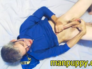 Dilf cam show cum manpuppy...