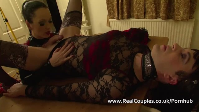 Sexy crossdressing pics Kinky wife in pvc with crossdressing husband