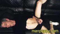 Smoking Fetish Masturbation with HUGE Cumshot from DILF Manpuppy