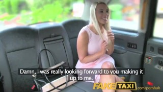 Preview 3 of FakeTaxi Helpful cab driver gives sexy blonde a creampie on backseat