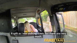 On sexy faketaxi a cab creampie gives driver backseat helpful blonde blowjob uk