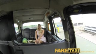 FakeTaxi Helpful cab driver gives sexy blonde a creampie on backseat porno