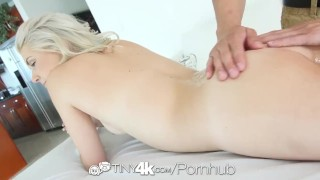 Tiny4K - Teen Henley Hart gets rubbed in all the right places
