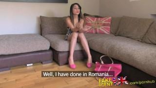 FakeAgentUK Deep creampie for sexy petite Romanian porn model