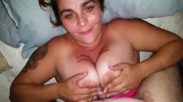 Fun in the afternoon, Titfuck, blowjob, and handjob