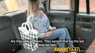 Preview 1 of FakeTaxi Petite lady with big tits gets down and dirty