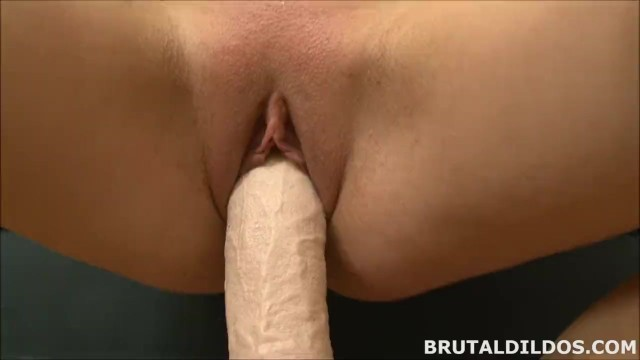 redhead fucking her tight pussy with a big  dildo in HD 8