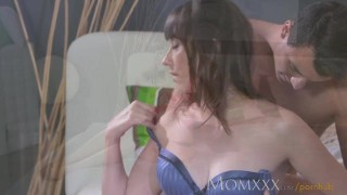 Loves toy older her cock hard mom deep her boys inside woman female brunette