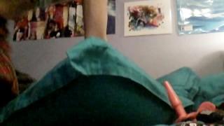 Vibrator plays school halloween girl with plaid skirt