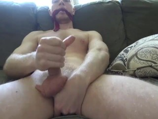 Gagging Myself With A Tie And Cumming For Miranda