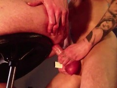 18 y/o Tattooed Slut Playing in his 28 y/o Boyfriend's Ass