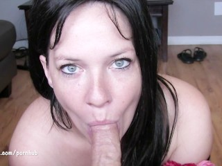 Amateur Oral Creampie Deluxe... with a little pussy play:)