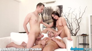 Threesome bicurious couple doghouse anal doghousedigital hairy