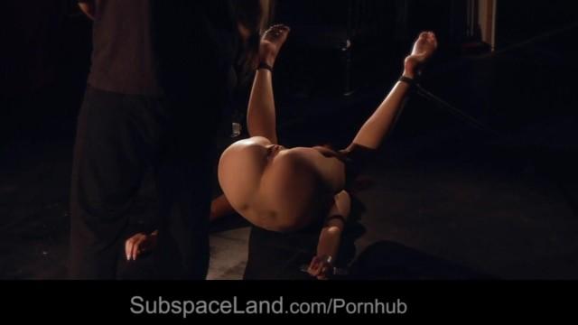 Damselfish adults - Redhead damsel getting pussy spread for bondage masturbation