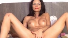 Sexy brunette having a juicy and intense orgazm