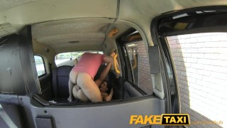 FakeTaxi Cock teasing stunner gets big facial Oral bent