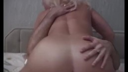 Horny Blonde Stepmom Taking Stepson's Cock For Breakfast