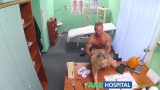 Doctors blonde horny malfunction gets wardrobe fakehospital halloween spycam cowgirl