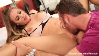 Pussy eating with Nicole Aniston and Chad White Facial blowjob