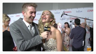 PornhubTV Sophia Knight & Danny D Red Carpet 2015 AVN Interview porno