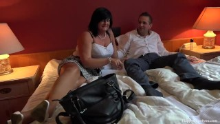 George and his friend's mom taboo session - footjob handjob