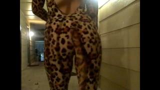 Hot drunk neighbor gives amazing blowjob on Halloween!!!