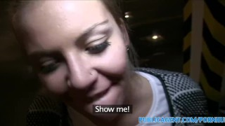 Slutty and publicagent fuck behind from blowjob of facial