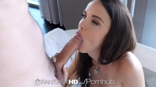FantasyHD - Dillion Harper takes a load of cum on her wet body