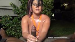 BEST Angelina Castro Oily Hand Domination!