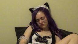 Kitty Maid Masturbation + BJ