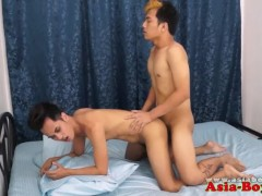 Asian twinks bareback analsex before cumshot