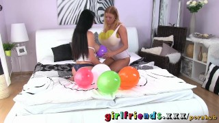 Preview 4 of Girlfriends Hot redhead and busty babe plan a surprise