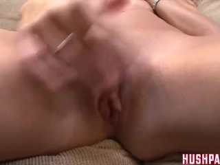 Tiny Kara gets her Pussy split and has to suck it!