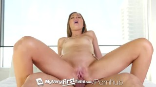 Screen Capture of Video Titled: MyVeryFirstTime - Anal creampie for first timer and nervous Shyla Ryder