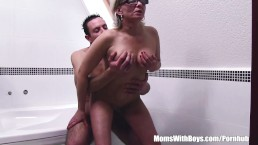 Jerking Stepson Caught And Fucks His Grey Haired Mature Stepmom