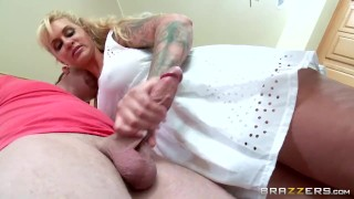Stepmom takes some young cock  - Brazzers porno